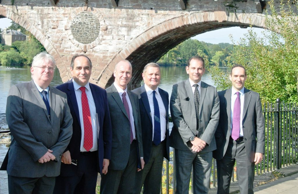 Pictured from left to right are: James Morris, Johnston Clark, David Reid, Alastair Duncan, Lindsay Darroch and Campbell Clark.