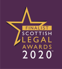 Blackadders' Finalists at the Scottish Legal Awards 2020